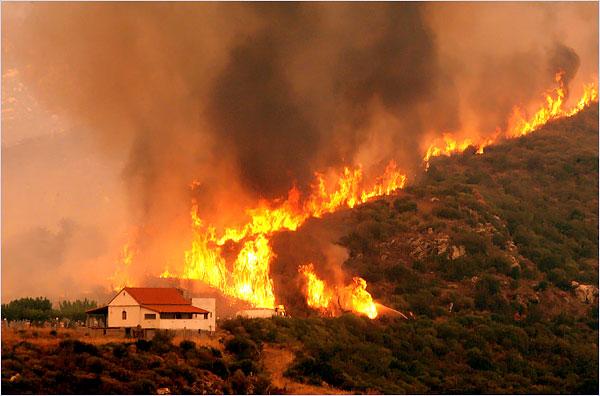 Greece fire.